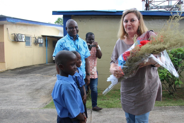 EU Ambassador to Liberia visits SOS Children's Village: Had Palava Hut discussion with 10 Girls