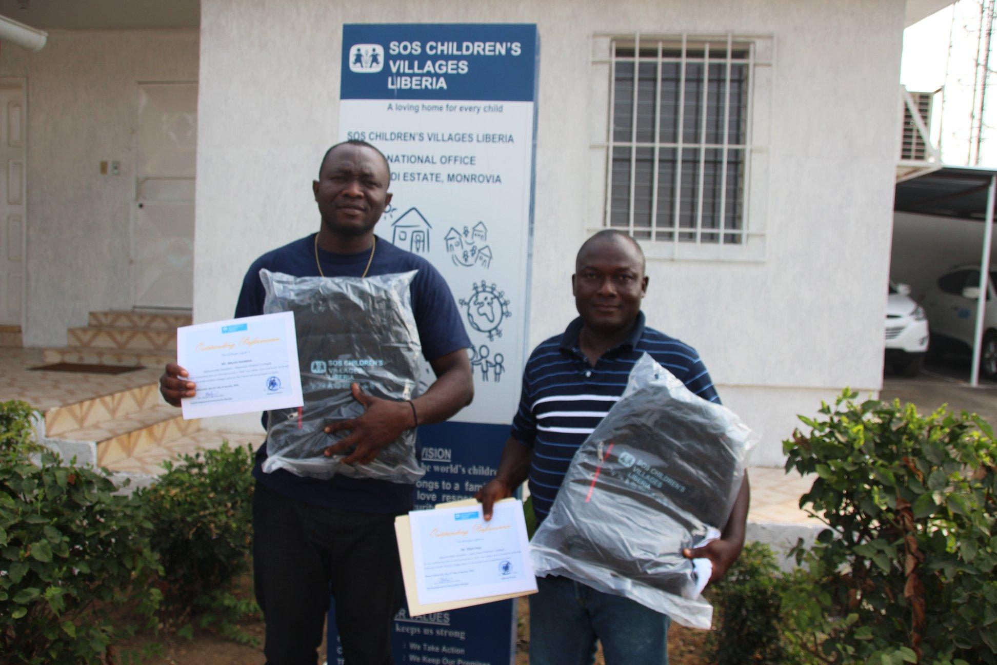 SOS Children's Villages Liberia Sponsorship team receives recognition for good performance