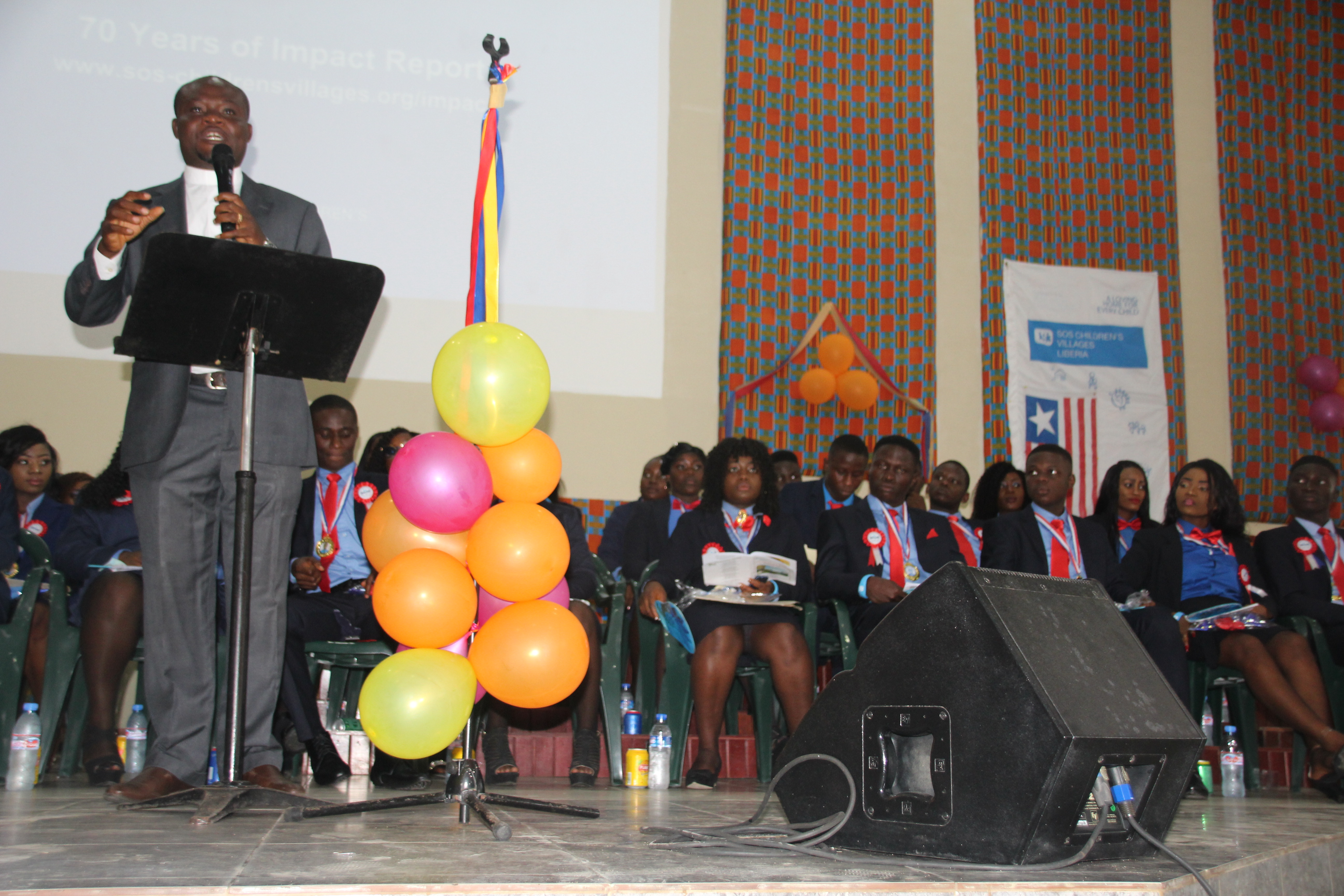 SOS Liberia HGIS Monrovia Graduates 26 students: Guest Speaker, cautioned graduates not to lose sight of the future