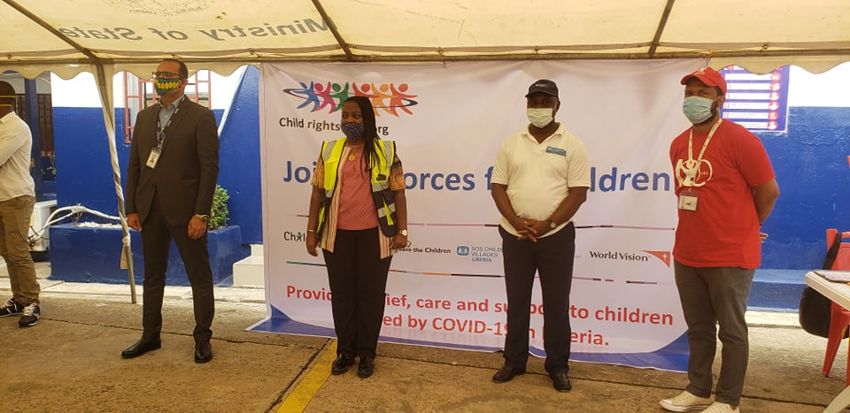 SOS Liberia, Plan International and Save the children: Joining forces to support children affected by COVID-19 outbreak in Liberia.