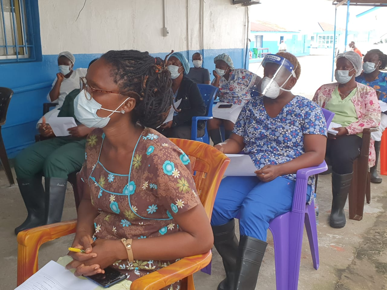 SOS Children's Villages Liberia partners with US Center for Disease Control and Montserrado County Health Team to provide refresher training on infectious disease prevention and control to healthcare workers.